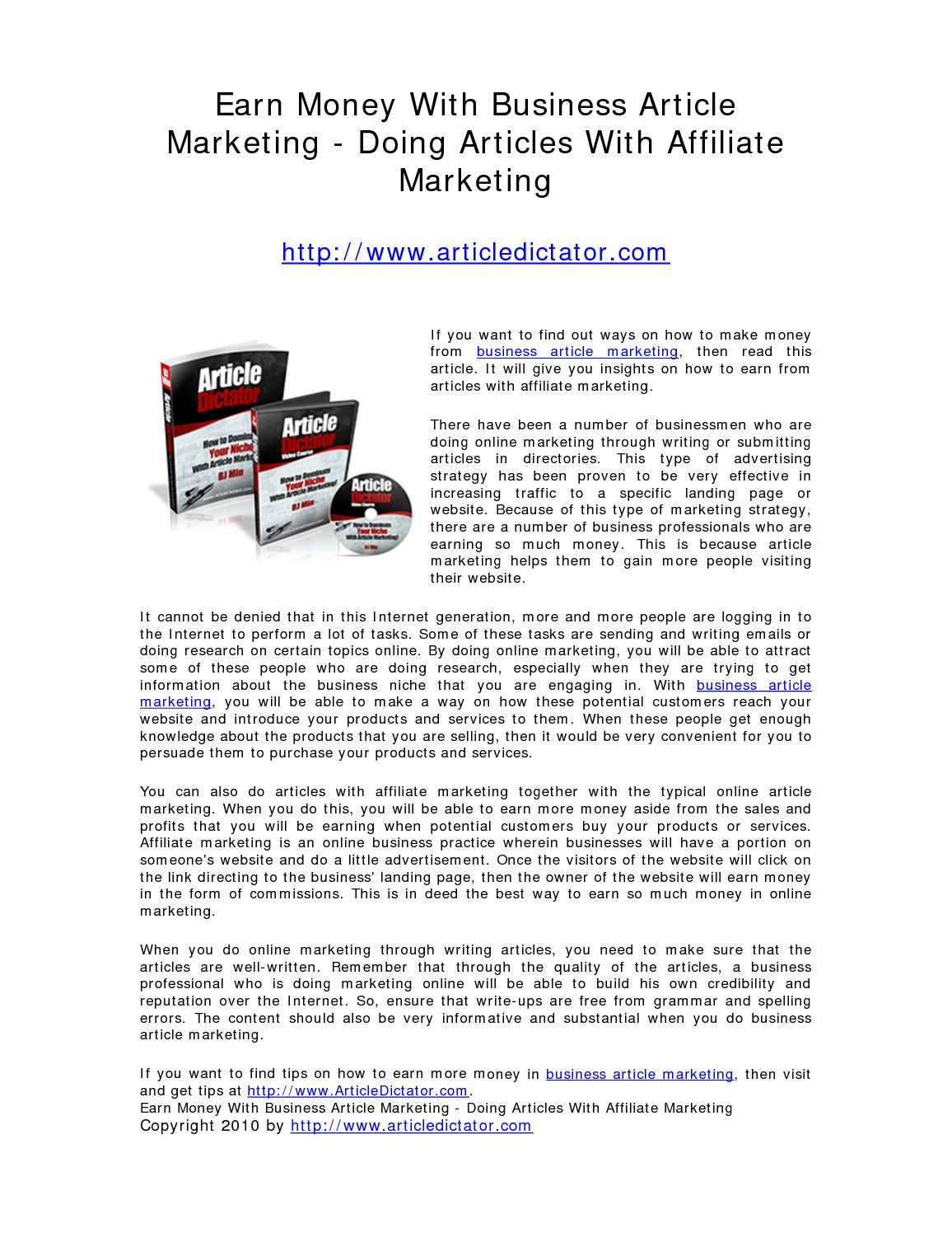 Article Marketing – How To Increase Website Traffic To Make Money Online